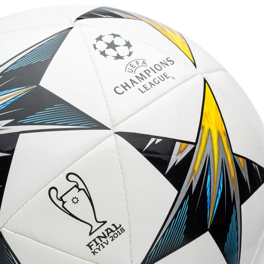 adidas football champions league 2018 finale kiev capitano - white blue yellow  - footballs 635e067945115