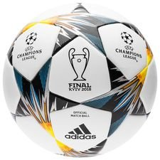 adidas football champions league 2018 final kiev match ball - white/blue/yellow - footballs