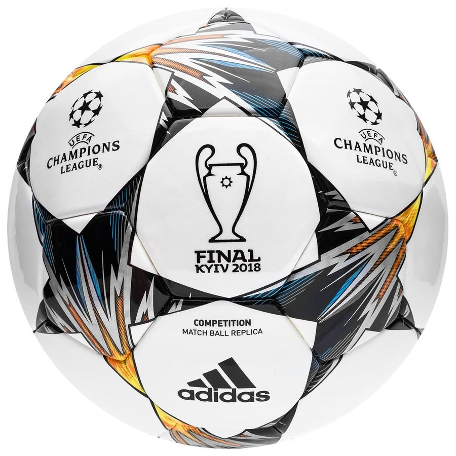 d95c8e7f584 adidas football champions league 2018 finale kiev competition - white blue yellow  - footballs ...