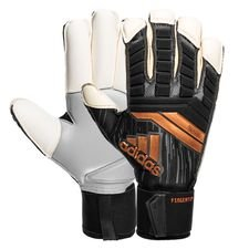 adidas goalkeeper gloves predator fingertip skystalker - black/solar red/gold - goalkeeper gloves