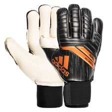 adidas goalkeeper gloves predator half negative skystalker - black/solar red/gold - goalkeeper gloves