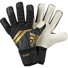 adidas goalkeeper gloves predator trans pro junior skystalker - black/solar red/gold kids - goalkeeper gloves