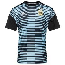 Image of   Argentina Trænings T-Shirt Pre Match Parley - Blå/Sort