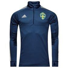 sverige træningstrøje - blå/gul - træningstrøjer