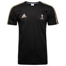 adidas t-shirt emblem world cup 2018 - black/gold - t-shirts