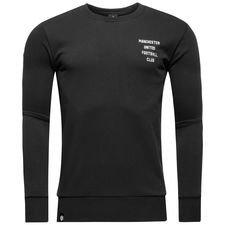 Manchester United Sweatshirt Graphic Crew - Svart