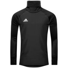 adidas træningstrøje warm condivo 18 - sort/hvid - træningstrøjer