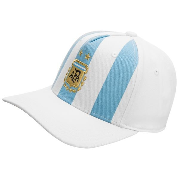 argentina kasket flat - hvid/blå - kasket