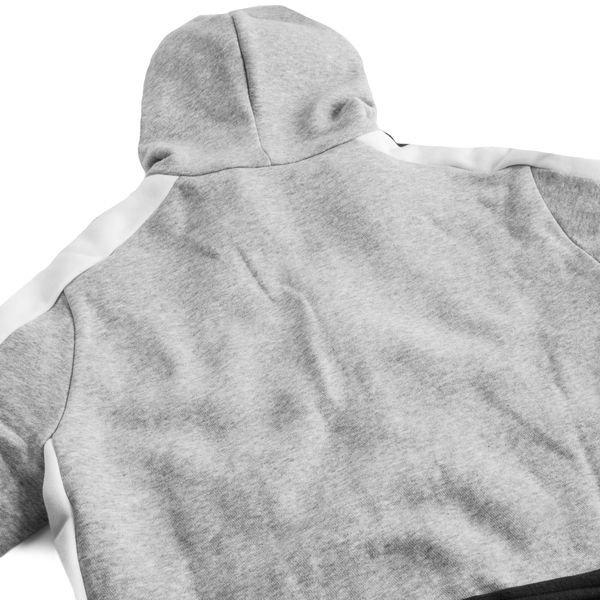 adidas Kapuzenjacke Fleece SID GrauSchwarzWeiß Kinder