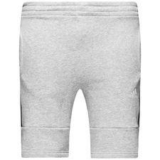 adidas shorts fleece sid - grå/sort børn - træningsshorts