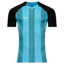 adidas trænings t-shirt messi icon cold blooded - sort/turkis børn - træningstrøjer