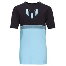Image of   adidas T-Shirt Messi - Sort/Turkis Børn