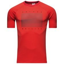 adidas t-shirt urban football cold blooded - real coral/black kids - t-shirts