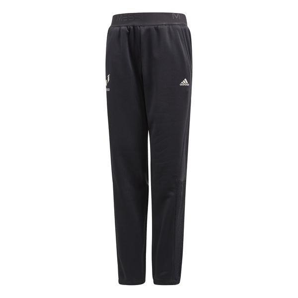 adidas træningsbukser messi knit - grå/turkis børn - træningsbukser