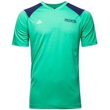 adidas fodbold t-shirt deadly strike - grøn/blå børn - træningstrøjer