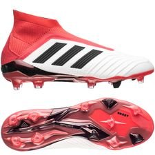 adidas Predator 18+ FG/AG Cold Blooded - Wit/Zwart/Rood