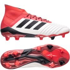 adidas Predator 18.1 FG/AG Cold Blooded - Wit/Zwart/Rood