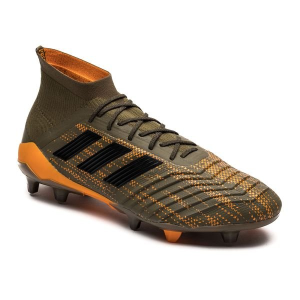 ... adidas predator 18.1 fg/ag lone hunter - trace olive/core black/bright  ...