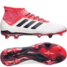 adidas Predator 18.2 FG/AG Cold Blooded - Wit/Zwart/Rood