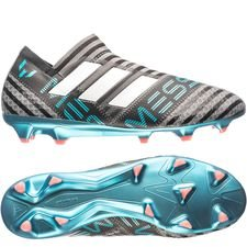 adidas nemeziz messi 17+ fg/ag cold blooded - grey/footwear white/core black - football boots