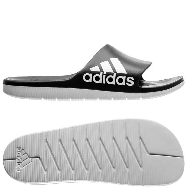 check out bdc99 9d8f6 adidas Suihkusandaalit Aqualette Cloudfoam - Musta Valkoinen 0