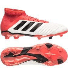 adidas predator 18.1 fg/ag cold blooded - footwear white/core black/real coral kids - football boots