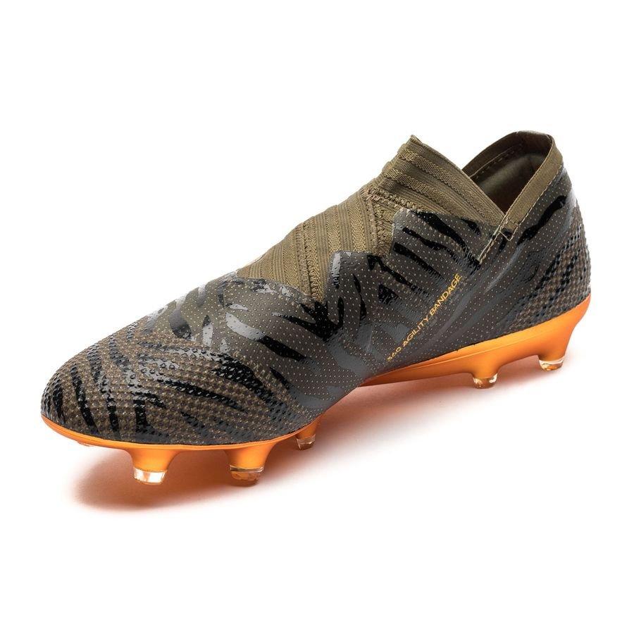 adidas Nemeziz 17 360 Agility FG Grønn Svart Oransje Fotballsko Salg Adidas Nemeziz 17 360Agility Fotballsko