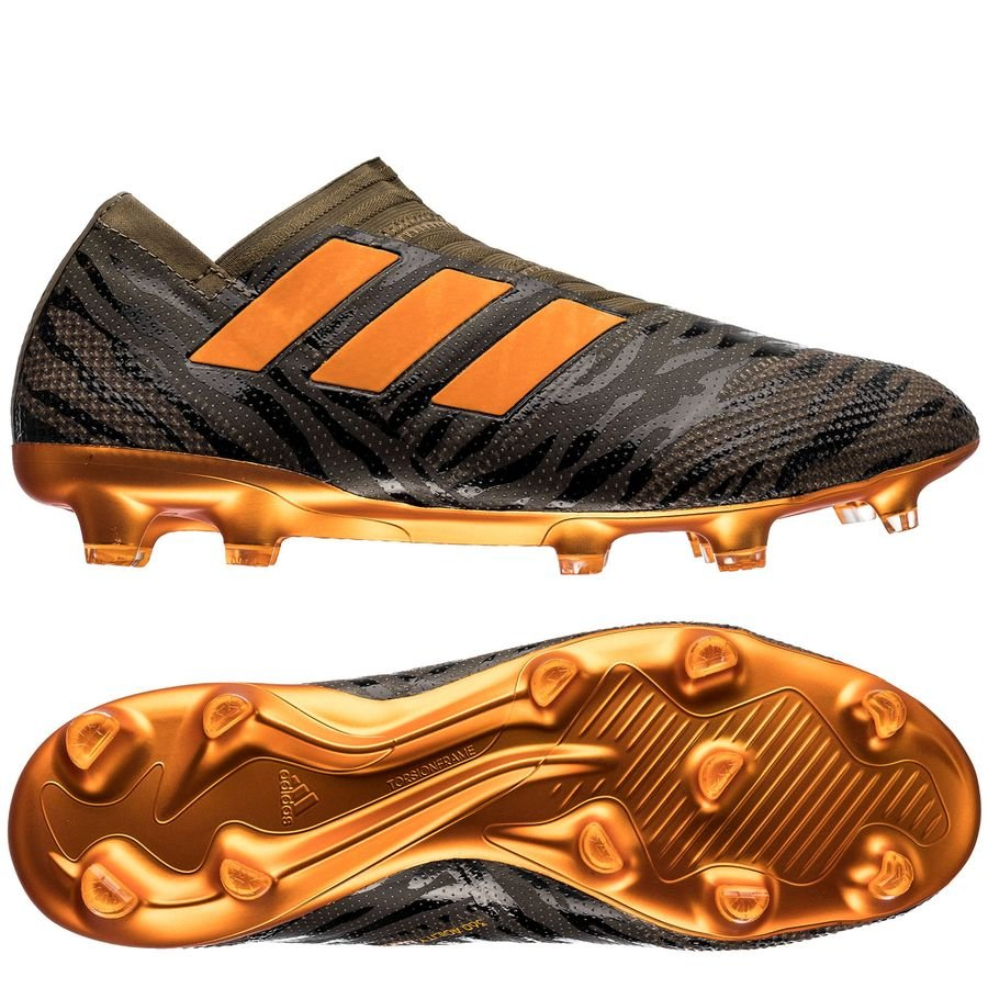 sports shoes 68b07 de326 adidas nemeziz 17+ fg ag lone hunter - trace olive bright orange  ...