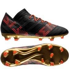 adidas nemeziz 17.2 fg/ag skystalker - sort/rød - fodboldstøvler