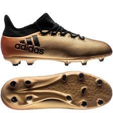 adidas x 17.1 fg/ag skystalker - guld/sort/rød børn - fodboldstøvler