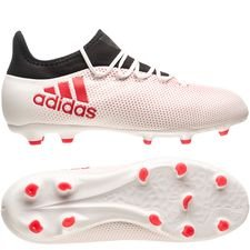 adidas x 17.1 fg/ag cold blooded - footwear white/real coral/core black kids - football boots