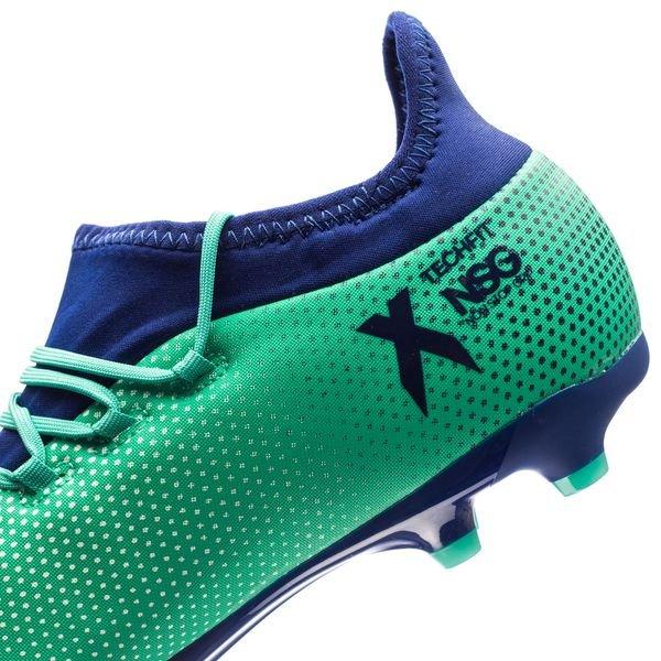 Adidas X 17,1 Fg / Ag Grève Mortelle - Enfants Vert / Bleu / Vert