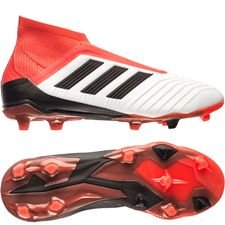 adidas predator 18+ fg/ag cold blooded - footwear white/core black/real coral kids - football boots