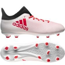 adidas x 17.3 fg/ag cold blooded - footwear white/real coral/core black kids - football boots