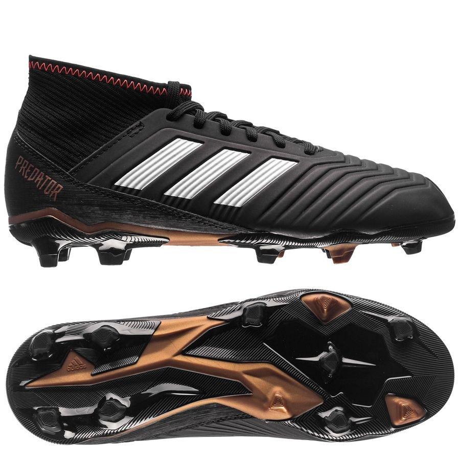 e8ff91deb10 adidas Predator 18.3 FG AG Skystalker - Core Black Footwear White Metallic Gold  Kids