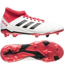 adidas predator 18.3 fg/ag cold blooded - footwear white/core black/real coral kids - football boots