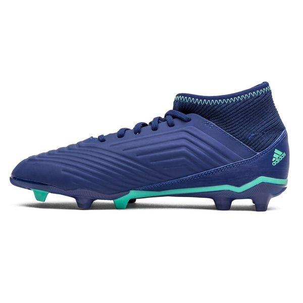 Prédateur Adidas 18,3 Fg / Ag Grève Mortelle - Enfants Bleu / Vert / Vert