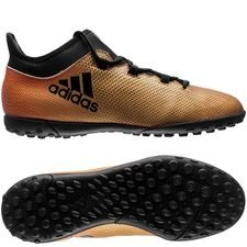 adidas x tango 17.3 tf skystalker - tactile gold metallic/core black/solar red kids - football boots
