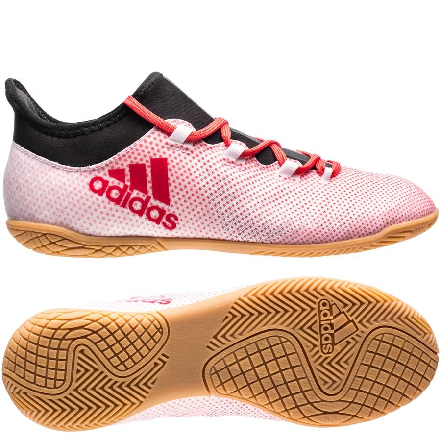 adidas x tango 17.3 in cold blooded - blanc/corail/noir enfant - chaussures