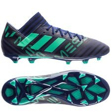 adidas nemeziz messi 17.3 fg/ag deadly strike - unity ink/hi-res green/core black - football boots