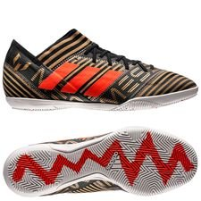 adidas nemeziz messi tango 17.3 in skystalker - core black/solar red/tactile gold metallic - indoor shoes