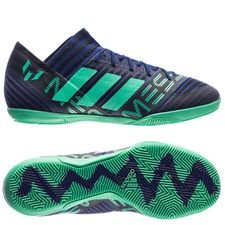 adidas nemeziz messi tango 17.3 in deadly strike - unity ink/hi-res green/core black - football boots