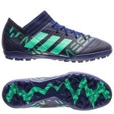 adidas nemeziz messi tango 17.3 tf deadly strike - grey/hi-res green/core black - football boots