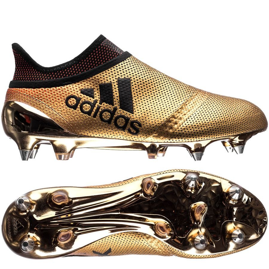 adidas x 17 sg skystalker - doré/noir/rouge - chaussures de football