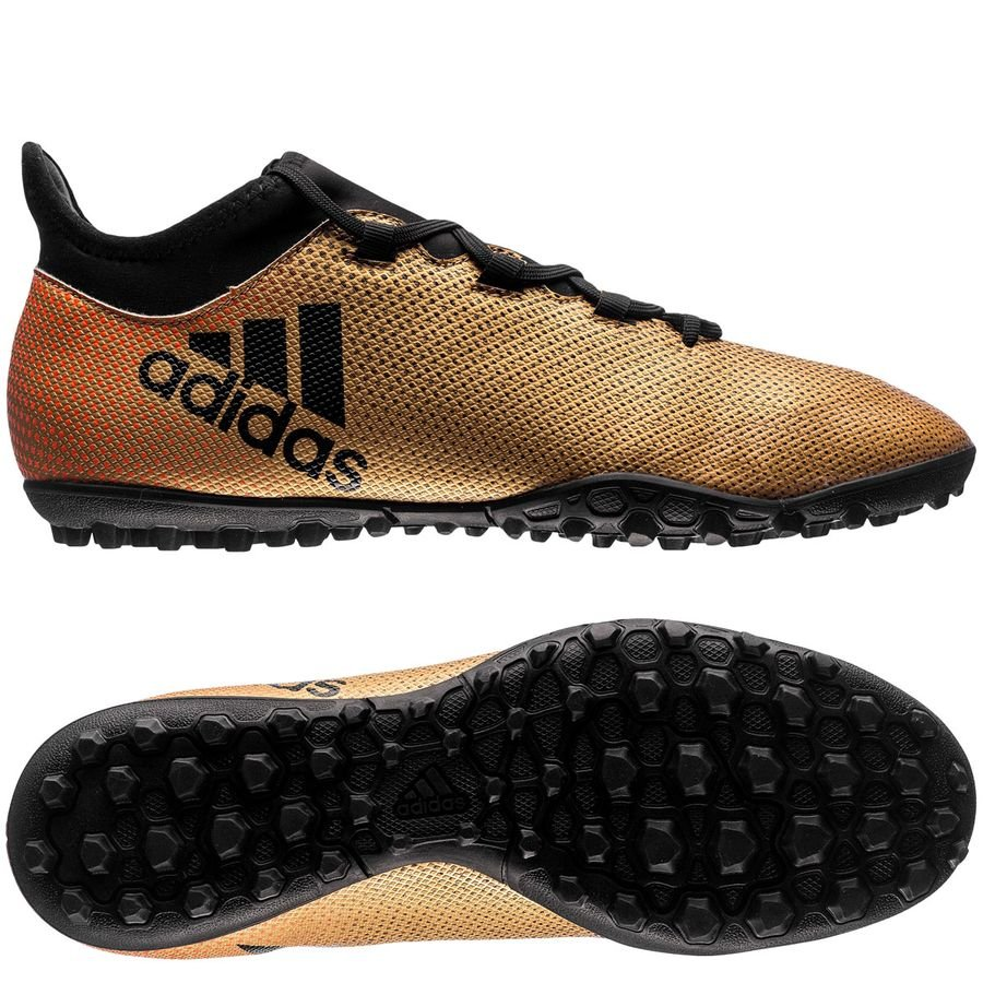 adidas x tango 17.3 tf skystalker - doré/noir/rouge - chaussures de football