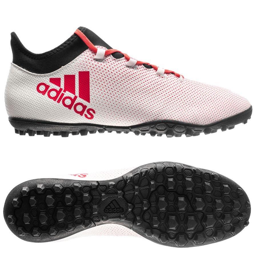 adidas x tango 17.3 tf cold blooded - blanc/corail/noir - chaussures de