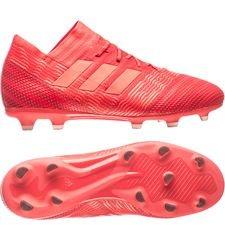 adidas nemeziz 17.1 fg/ag cold blooded - rød børn - fodboldstøvler