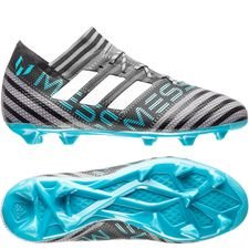 adidas Nemeziz Messi 17.1 FG/AG Cold Blooded - Grijs/Wit/Zwart Kinderen