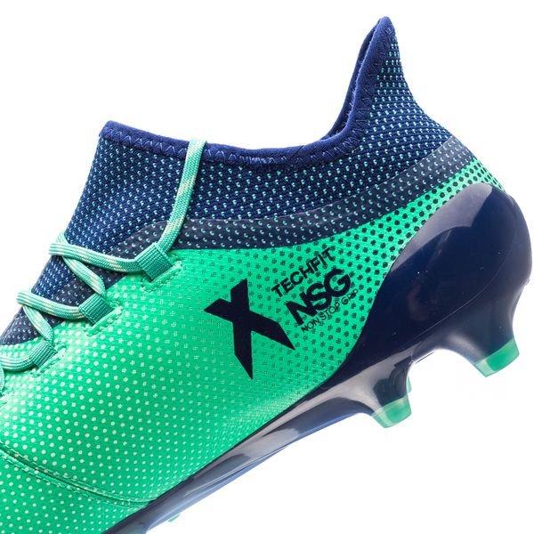 Adidas X 17,1 Fg / Ag Grève Mortelle - Vert / Bleu / Vert