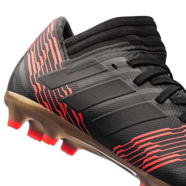 b1bff385 ... adidas nemeziz 17.3 fg ag skystalker sort rød barn fotballsko